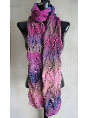 Curvy Scroll Lace Scarf Knit Pattern