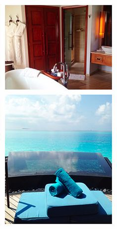 The fabulous Constance Halaveli, in the Maldives, is on a smaller island and is beautifully kept. We stayed in a water villa with a pool and it was fantastic!