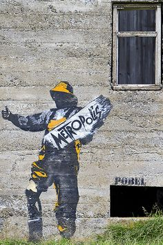 Street art by Pøbel in Lofoten - Norway … Street Art Love, Street Wall Art, Street Art Graffiti, Art Optical, Optical Illusions, Old School Fashion, Banksy, Urban Art, Bald Eagle