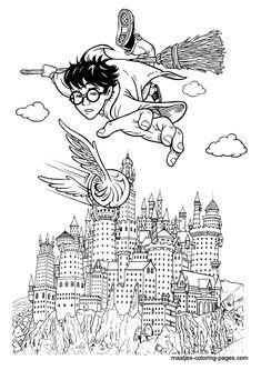 harry potter hogwarts castle coloring page Deco Harry Potter, Harry Potter Castle, Harry Potter Colors, Harry Potter Free, Theme Harry Potter, Harry Potter Printables, Harry Potter Birthday, Harry Potter Hogwarts, Castle Coloring Page