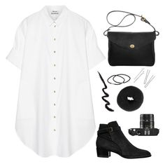 """""""ABC Tag"""" by aaegia ❤ liked on Polyvore featuring Acne Studios, Yves Saint Laurent, Mimi Berry, NLY Accessories, Leica, women's clothing, women, female, woman and misses"""