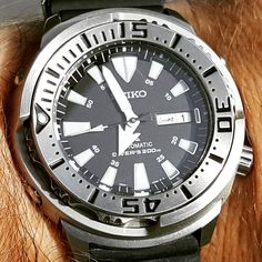 """Watch of the Day Fun with water effects At the pool with a Seiko """"Monster Tuna"""" from April 2017 # Water Effect, Mechanical Watch, Automatic Watch, Wristwatches, Vintage Watches, Seiko, Tuna, Omega Watch"""
