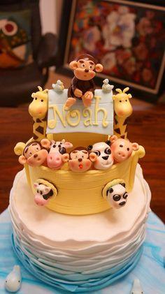 Noah's ark cake by Onceuponthiscake.blogspot.com