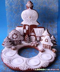 Christmas Gingerbread House, Christmas Candle, Gingerbread Cookies, Christmas Cookies, Christmas Crafts, Xmas, Hungarian Cookies, Cookie House, Honey Cake