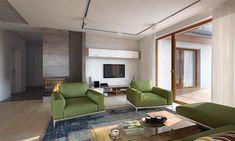 Projekt domu Arte 136,91 m2 - koszt budowy - EXTRADOM Floor Chair, House Plans, Lounge, Flooring, Furniture, Home Decor, Gallery, Prefab Homes, Airport Lounge