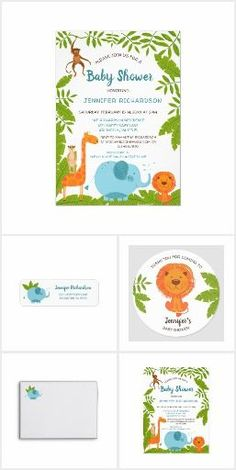 Sweet Jungle Safari Boy's Baby Shower - #jungle #safari #shower #sweet - #flyinglemur