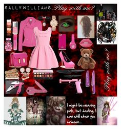 """""""Sally Williams"""" by laughingjacksdaughter ❤ liked on Polyvore featuring Boutique Moschino, Tom Ford, Kate Spade, Beats by Dr. Dre, Gund, Lime Crime, Jeffree Star, Victoria's Secret, SPINELLI KILCOLLIN and Michael Kors"""