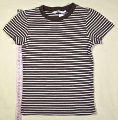 500 Ft. - Póló - barna-fehér csíkos Mens Tops, T Shirt, Fashion, Tee, Moda, La Mode, Fasion, Fashion Models, Tee Shirt