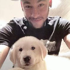 Photo of Neymar & his  Dog