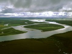 NO PEBBLE MINE #54, Pictures from Ground Zero: Big #weather off the #BeringSea streams into #BristolBay and out over the #landscape of #Southwest feeding the #river systems that make up the #headwaters of one of the greatest #fisheries in the world. Here the #Nushagak - 1 of the 2 most productive rivers in the #fishery – broadens and grows in volume as it heads towards Bristol Bay - to the right in the distance. Photograph © 2013 RbtGlennKetchum