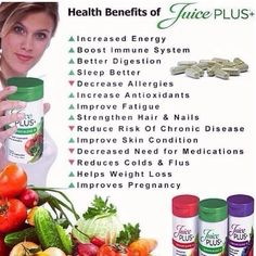 Benefits of juice plus http://www.juiceplus.es/+cr02296