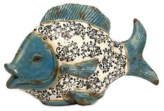 Bates Ceramic Fish | Winter on the Lake | One Kings Lane