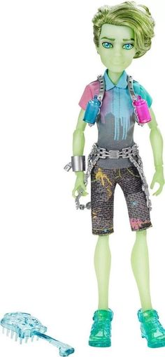 2014 NEW Monster High Haunted Student Spirits Porter Geiss Boy Doll In Hand!  #DollswithClothingAccessories $39.99 ~ free shipping!