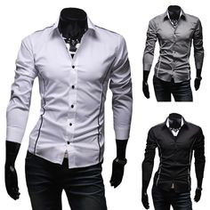 >> Click to Buy << 2016 Hot Mens Shirts Men's Dress Shirt Casual Slim Fit Stylish Long-Sleeved Shirts 3 Colors Size M--XXXL #Affiliate