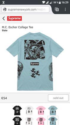 187835a14d69 Deadstock Supreme M.C. Escher Collage Tee Slate/Blue Size L Slate, Supreme,  Whiteboard