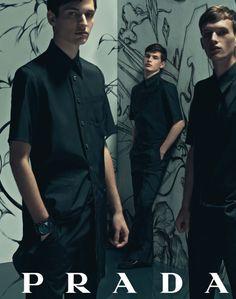 Prada Spring 2008 Ad Campaign  Photographer: Steven Meisel  Models: Nick Snider, Felix Schopgens, Thomas Wyatt