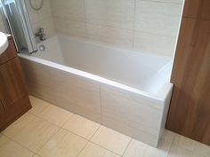 Tiled Bath Panel With Bathroom Installation In Leeds