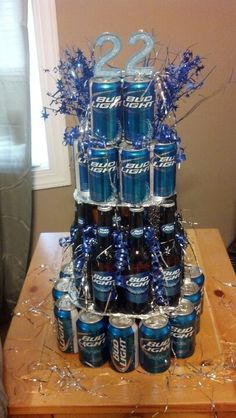 Awesome idea for a guys birthday!  Using this for my boyfriends 22nd bday