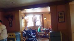 Columbia Harbour House's dining room gives guests the option of either a cozy interior room or a brightly lit table by the windows. Magic Kingdom Quick Service, Magic Kingdom Restaurants, Disney Magic Kingdom, Disney Dining, Room Interior, Columbia, Dining Room, Cozy, Windows