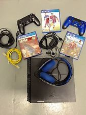 Sony PlayStation 4 500 GB Black Console HUGE BUNDLE w/ 2 Controllers 3 Games!