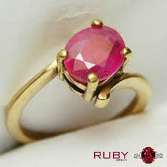 Beautiful ruby stone ring you can gift to your partner