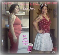 8 months on Skinny Fiber and looking great!  ORDER HERE - http://abetteryouwithliz.SkinnyFiberPlus.com/