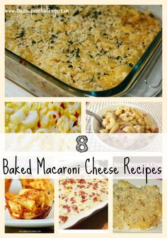 Who doesn't like Macaroni & Cheese?  It's one of those comfort foods that seems to be a favorite with kids and adults.  Here are 8 Baked Macaroni n Cheese recipes to help you change up this staple dish.