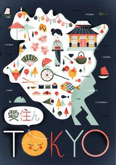 Tokyo by Sol Linero // illustration