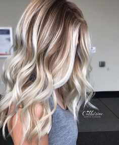 Brunette Roots With Platinum Blonde Balayage Highlights Hair