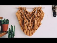 Crochet Mandela, Macrame Wall Hanging Diy, Macrame Tutorial, Macrame Projects, Macrame Knots, Macrame Patterns, Boho Fashion, Mandela Art, Youtube