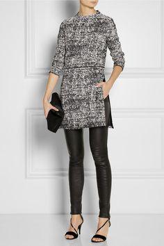 Cotton-blend tweed tunic