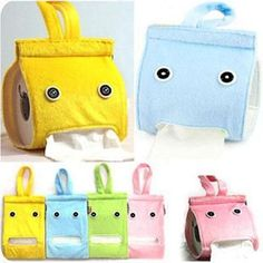 Fashion Devise Can Hang Pattern Of The Plush Cloth Toilet Paper Container Box JG Interior Design Pictures, Hanging Storage, Storage Boxes, Paper Towel Holder, Tissue Boxes, Felt Crafts, Little Gifts, Toilet Paper, Sewing Crafts