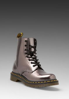 DR. MARTENS Pascal 8-Eye Boot in Pewter -