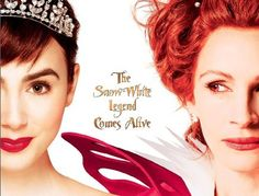 The evil Queen (Julia Roberts) looking to get rid of the beautiful competition and Snow White (Lily Collins) ending up with the dwarfs. The twist here is that Snow and her enemy are competing for the love of Prince Andrew Alcott (Armie Hammer) and there's a lot more plot around winning his heart.