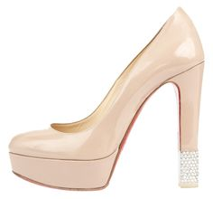 Christian Louboutin Crystal Heel Platform Nude Pumps. Get the must-have pumps of this season! These Christian Louboutin Crystal Heel Platform Nude Pumps are a top 10 member favorite on Tradesy. Save on yours before they're sold out!