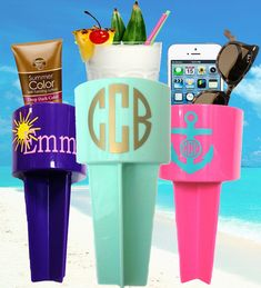 #1 Beach Necessity! Sand Spiker Drink Holder