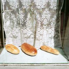 Crakow, Poland, 1988, Three loaves of bread #DavidHlynsky