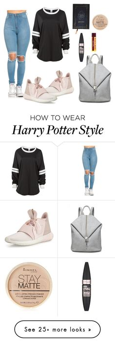 """""""School outfit"""" by raluuca18 on Polyvore featuring adidas, Maybelline and Rimmel"""