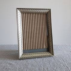 """5"""" x 7"""" Brass / gold-tone metal picture frames w. ornate design // Hollywood regency photo frames, family heirloom photos, 13 cm x 18 cm by BlueChickenVintage on Etsy"""