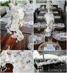 A beach wedding held at The Sands at Grace Bay in Providenciales, Turks & Caicos - orchids were the perfect tropical touch for the table decor! Photos by Brilliant by Tropical Imaging