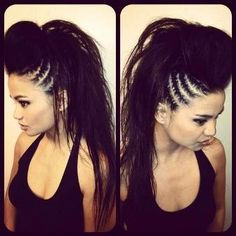 Stylish Mohawk Braided Hairstyles 2015 For British Blackish Hairy girls <<<See More at www.stylep.com >>>