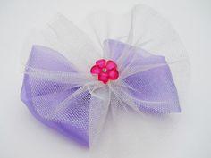 Purple Princess Hair Bow  Glitter Tutu Hair by MissLottiesBoutique, $10.00