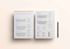 3 Page Resume Template   INDD + DOCX by BlackDotResumes on @creativemarket