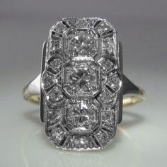 #Art #Deco #Diamond #Plaque #Ring  #Jewelry #The #Antiques #Room #Galway #Ireland €3,495 Art Deco Ring, Art Deco Diamond, Art Deco Jewelry, Vintage Diamond, Vintage Rings, Unique Vintage, Vintage Jewelry, Galway Ireland, Selling Art
