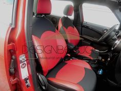 MINI Cooper Autositzbezüge in der Lederlook & Textil MIX Variante. Aus schwarzen Seriensitzen wurde der Inneraum ganz leicht neu gestaltet #designbezuege #designbezuege  #Tuning, #Autobezuege, #Tuning, #mini, #autositz #Lederbezuege #Autositzbezüge