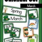 Calendar Cards Set - March  This packet includes: Month card: March Season card: Winter/Spring Days of the Week: Sunday - Saturday Number Cards (4 ...