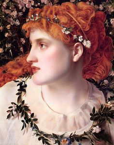 Perdita (c.1866). Frederick Sandys (English, Pre-Raphaelite, 1829–1904). Oil on panel. Collection of Lord Andrew Lloyd Webber. I think you have As little skill to fear as I have purposeTo put you to't. But come; our dance, I pray: Your hand, my Perdita: so turtles pair, That never mean to part.Florizel, Winter's Tale, Act IV, Scene 4.