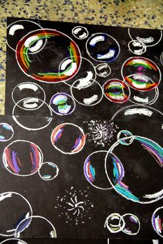 smART Class: Floating on to ___ grade!! End of the year project! these look like real bubbles!