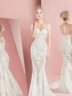 2016 Luxury Mermaid Wedding Dresses Sweetheart Neckline Appliques Lace Backless White/Ivory Wedding Dresses For Brides