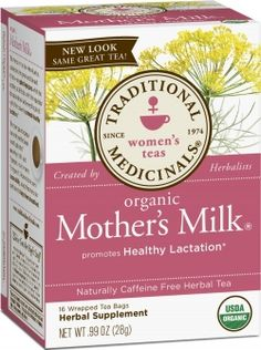 Mother's Milk tea. Natural herbal remedy helps breastfeeding moms produce more milk. Great for new nursing mothers.